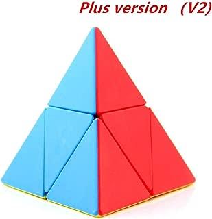 CuberSpeed Pyramorphix Stickerless Plus Version Magic Cube 2x2 Pyramid stickerless v2 Speed Cube