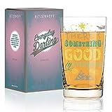 RITZENHOFF Everyday Darling Softdrinkglas von Petra Mohr (Something Good), aus Kristallglas, 300 ml, mit trendigen Dekoren