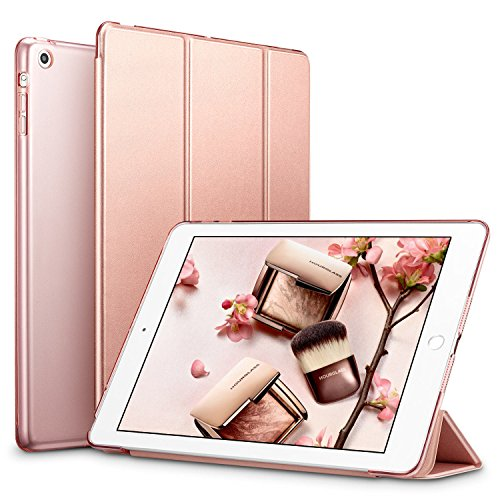 ESR Yippee Trifold Smart Case for iPad Mini 1/2/3, Lightweight Trifold Stand Case with Auto Sleep/Wake, Microfiber Lining, Hard Back Cover for iPad Mini 1/Mini 2/Mini 3, Rose Gold