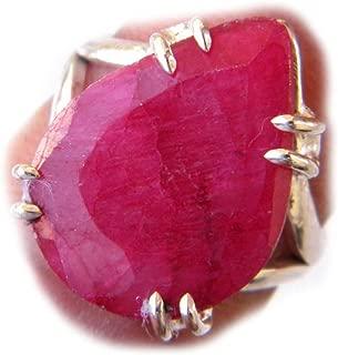 Ruby Pink Beryl Ring, Designer Ring, Handmade Ring, Silver Plated Ring (Ring Size - 8) AH-13863