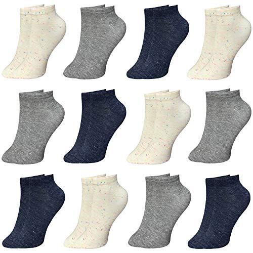 PiriModa, 12 paia di calzini da donna, taglia 35-40, calze corte in cotone e sportivi modello 4 35/40 IT