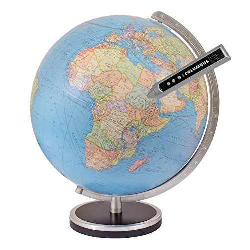 Columbus Pathfinder 13 Inch Interactive World Globe with Talking Pen