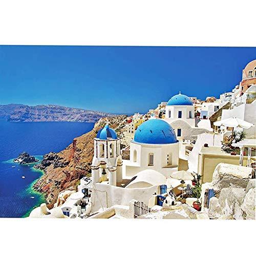 P12cheng Puzzle 1000 Pezzi, Adulti Bambini Santorini Egeo Paesaggio Mare DIY Puzzle Gioco Giocattoli Regalo, 1000 pezzi.