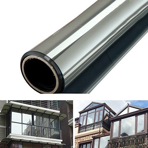 EMVANV - Película de espejo para ventana, reflectante y de privacidad en cristal tintado, con adhesivo de espejo para el sol, control solar y Window