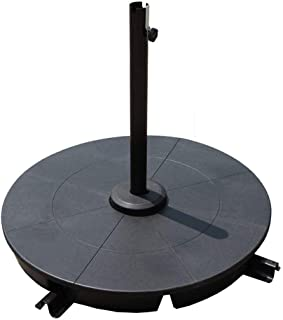 COBANA 4-Piece Cantilever Offset Patio Umbrella Base, Easy Filling Umbrella Weight Stand, Sand Filled Only,120lbs