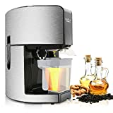 Electronic Countertop Kitchen Oil Press, Heat & Pressing Power, Cleaning Brush & Push Rod, Dimensions (L x W x H) 12.0'' x 8.5'' x 14.4'', Easy-to-Clean Stain Resistant Construction- NutriChef PKOPR15