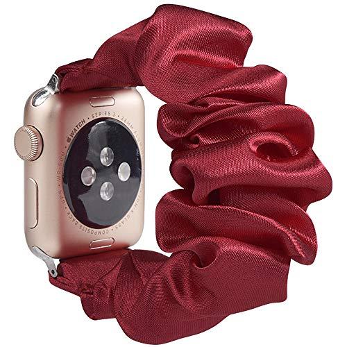 Miimall - Correa de reloj para Apple Watch Serie 1, 2, 3, 4, 5, 44 mm, 42 mm, color rojo