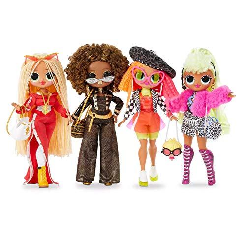 L.O.L. Surprise! 422020 O.M.G. 4-Pack, vier O.M.G. Fashion Dolls der Serie 1 im Set, mit Kleidung und vielen Accessoires, insgesamt über 80 Überraschungen