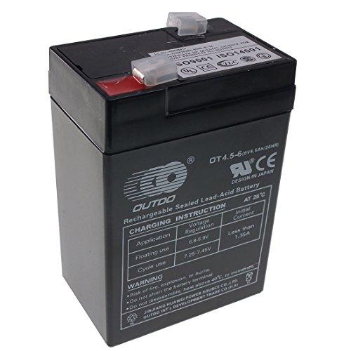 6v Rechargeable Sealed Lead Acid - AGM - VRLA Battery (6V 4.5Ah)