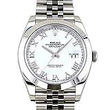 ロレックス ROLEX デイトジャスト 41 126300 ホワイトローマ文字盤 新品 腕時計 メンズ (W200600) 並行輸入品