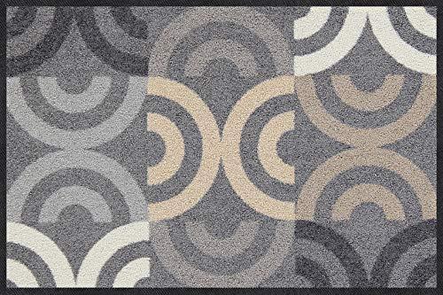 Salonloewe Borrby City-chic Fußmatte waschbar 050 x 075 cm Fußabtreter, Schmutzfangmatte