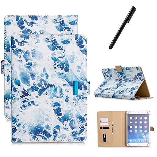 Funda Compatible con 9-10.1' Tableta, Carcasa Protección para Samsung Galaxy Tab A6 10.1', iPad 2/3/4, iPad 2018, Asus Zenpad 10, Lenovo TB-X103F/Tab 2 A10-70, Huawei MediaPad T5/M5 Lite 10, Mármol