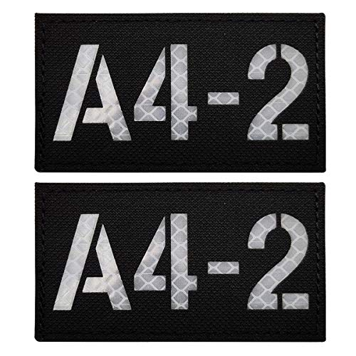 Infrared IR Call Sign Reflective Patch, Customizable A4-2...