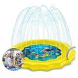 NA Gel Nail Streuen Sie Spielen Splash Mat Outdoor Kids Water Pool Spielzeug Jungen und Mädchen Perfekte Inflatable Sommer-Wasser-Spielzeug,Gelb