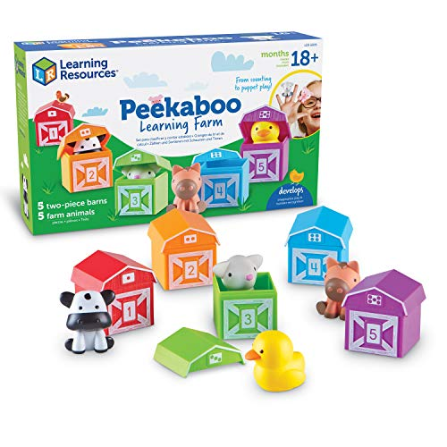Learning Resources Peekaboo Learning Farm  Counting  Matching & Sorting Toy  Toddler Finger Puppet Toy  10 Piece Set  Easter Gift for Kids  Easter Toys  Ages 18 mos+