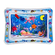 #LightningDeal Splashin'kids Inflatable Tummy Time Premium Water mat Infants and Toddlers is The Perfect Fun time Play Activity Center Your Baby's Stimulation Growth