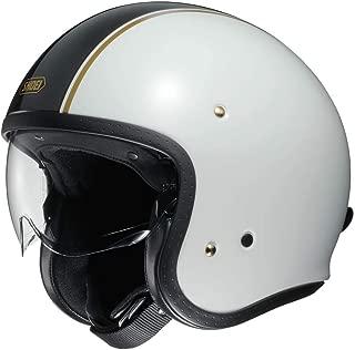 Shoei J O Vintage Open Face Helmet Carburetor TC-6 White/Black/Gold 2X-Large (More Size and Color Options)