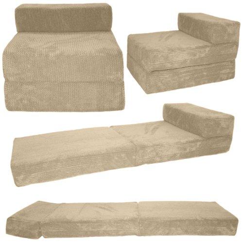 Gilda® Soft & Snugly Corduroy CREAM Standard Chairbed Sofa