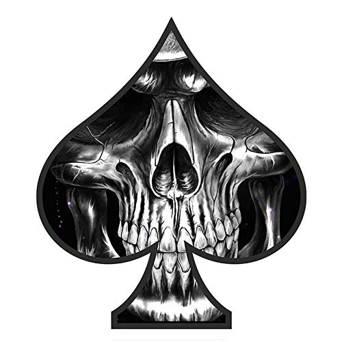 Dawasaru Ace of Spades Skull Car Sticker Personality Decal Laptop Motorcycles Auto Accessories Decoration PVC,17cm*15cm