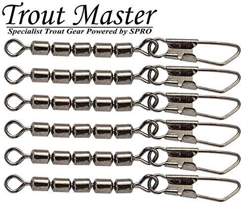 Trout Master 5-Fach Forellenwirbel mit Snap - 6 Wirbel, Größe/Tragkraft:Gr. 16 / 7kg