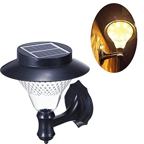 Energía Solar batería LED lámpara ahorro de energía de luz de pared Pathway automático Sensor farol para exteriores Patio Valla Césped Jardín Paisaje