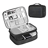 Hivexagon Capa Doble Viajes electrónica Accesorios Organizador del Bolso para Cables, el Cable, Disco Flash, Unidad USB, Cargador, Banco de alimentación, Tarjeta de Memoria, Auriculares