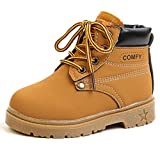 DADAWEN Baby's Boy's Girl's Classic Waterproof Outdoor Insulated Winter Snow Boots Yellow US