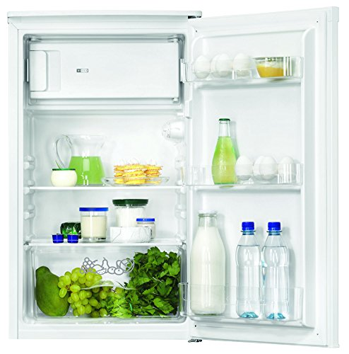 Zanussi zrg10 800wa Réfrigérateur/A +/84,70 cm Hauteur/165 kWh/an/87 L Partie isotherme/9 L Partie Congélateur/un türiges Table Appareil/étagères en verre/blanc