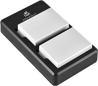 Homesuit LP-E8 LP E8 互換バッテリー 1800mAh 2個+USB 充電器 キット 対応機種 Canon Eos Rebel T2I T3I T4I T5I Eos 550D 600D 650D 700D Kiss X4 X...