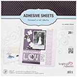 Scrapbook Adhesives by 3L 01679 12-Inch Adhesive Sheets, 25-Pack, 12 by 12, 25 Count