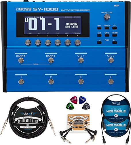 Best Prices! BOSS SY-1000 Guitar Synthesizer Bundle with Blucoil 10-FT Straight Instrument Cable (1/...