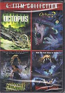 Horror Collection 4 Movies Octopus, Octopus II, Crocodile, Blood Surf