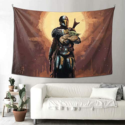 Heavenly Battle Movie Star Wars Mandalorian Tapestry,Wall Hanging Room Living Tapestrys Home Decorative Bedroom Art Tapestries-One Size