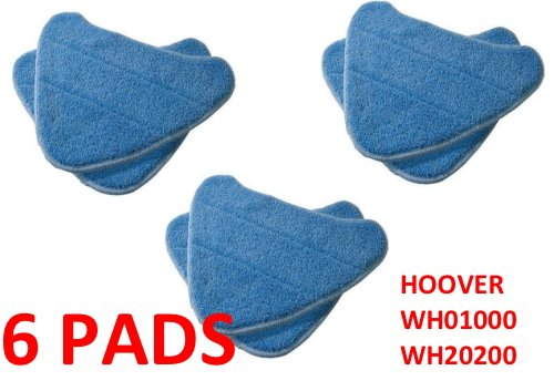 Hoover 6 PACK Steam Mop Pads Compatible WH20200 Steam Mop # WH01000