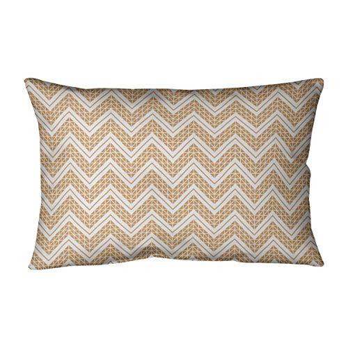 Find Discount ArtVerse Rhonda Cheval Reverse Classic Hand Drawn Chevrons Pillow (w/Removable Insert)...