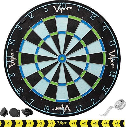 Viper Chroma Tournament Bristle Steel Tip Dartboard Set with Staple-Free Bullseye