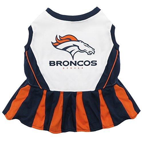 Pets First NFL Denver Broncos Dog Cheerleader Dress, Small