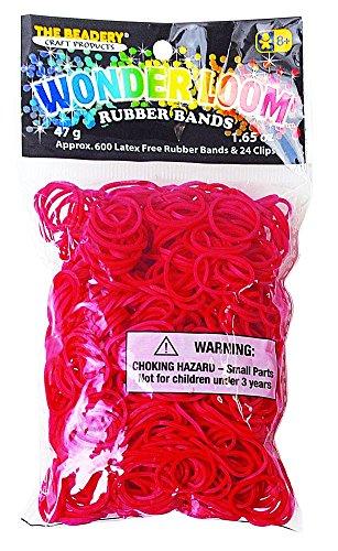 The Beadery Wonderloom Bands, Red