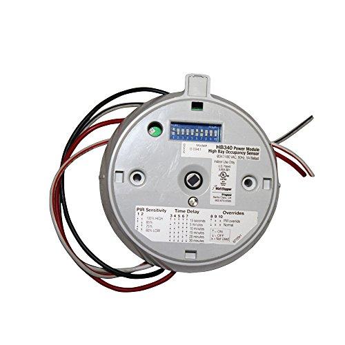 Wattstopper HB-340 High Bay Occupancy Sensor Standard Module Fixture Mount 347/480 VDC Indoor Use, W