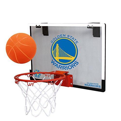 NBA Golden State Warriors Game On Indoor Basketball Hoop & Ball Set, Regular, Blue