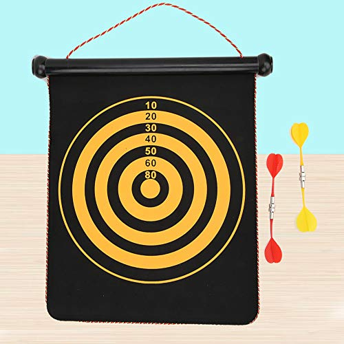 T best Two-sided Dartboards, Children Interactive Toys Flocking Magnetic Two-sided Darts Target for Safety Fitness and Professional Training