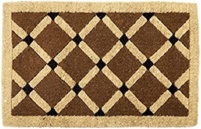 Fab Habitat Mahi 100% Thick Coir Doormat, 75 cm Length x 45 cm Width