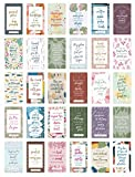 """bloom daily planners Writefully His Prayer Card Deck (Pack of 30) - Inspirational Christian Bible Verses for Women - Scripture Encouragement Mini Quote Cards - Assorted Designs - 2"""" x 3.5"""""""