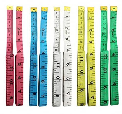 CHSYOO Cinta métrica para el cuerpo humano, 6 kits de cinta métrica, regla de sastrería flexible de doble cara, 60 pulgadas / 1,5 M, accesorios de medición de oficina
