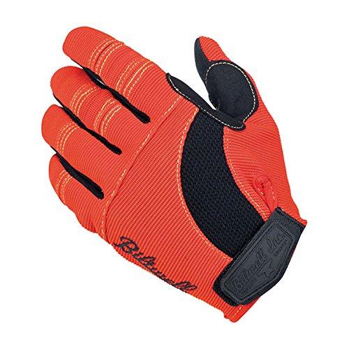 Gloves Motorrad-Handschuhe aus Stoff, rot, Biltwell für Herren, Biker, Custom, Geschenkidee, Größe XL