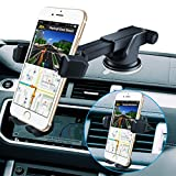 BOLWEO Phone Car Holder Dashboard, Cell Phone Stand Air Vent , Windshield Cell Phone Automobile Cradles Compatible with iPhone 11 12 Pro XS Max XR X 8 7 6 Samsung LG Nexus Nokia (Black)