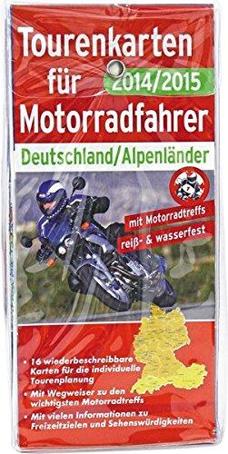 Tourenkarten für Motorradfahrer Deutschland/Alpenländer 2014/2015: 16 wiederbeschreibbare Karten für die individuelle Tourenplanung