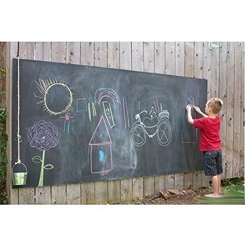 MOKACOCA Removable Draw Decor Mural Decals Art Chalk Board Blackboard Chalkboard Wall Sticker for Kids Rooms 45cmx200cm (Black,45cmx200cm/17.7