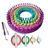 Tmade Redondo Juego de telares de punto Fabricante de sombreros Bufanda Crochet kit con Regalo Juego de Pom Pom Maker
