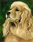 5D DIY Diamond Painting Kits for Kids and Adult Beginners English Cocker Spaniel Pet Dog Mosaic Full Drill Stickers Paint with Diamond Animals Landscape Kit Arts Gift Zyqq(30X40Cm)